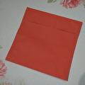 Kuvert, 10 st - 15x15 cm - Röda