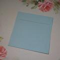 Kuvert, 10 st - 15x15 cm – Ljusblå