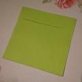 Kuvert, 10 st - 15x15 cm - Lime