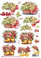 Le Suh 3D Utstansat - Julblommor