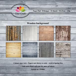 Dixi Crat Pappersblock - Wooden background - Dixi Crat Pappersblock - Wooden background