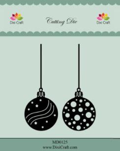 Dixi Craft - Dies - Christmas Baubles - Dixi Craft - Dies - Christmas Baubles