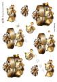 HM design 3D Klippark - Ask m julkulor i guld