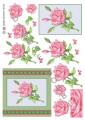 HM design 3D Klippark - Rosa ros i ram