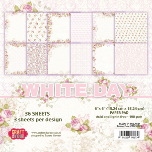 Craft & You - Pappersblock - White Day - Craft & You - Pappersblock - White Day