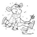 Nellie Snellen Embossingfolder - Christmas Koetie - Skating