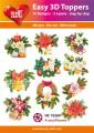 Easy 3D Utstansat - X-mas/Flowers