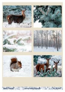 Barto Design Klippark – Vintermotiv med djur - Barto Design Klippark – Vintermotiv med djur
