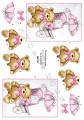Dan-Quick 3D Klippark - Nalle m rosa rosett