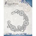 Amy Design Dies - Vintage Winter - Snowflake Swirl Round