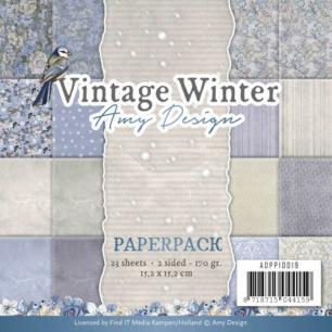 Amy Design Pappersblock - Vintage Winter - Amy Design Pappersblock - Vintage Winter