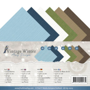 Amy Design - Pappersblock - A5 - Vintage Winter - Amy Design - Pappersblock - A5 - Vintage Winter