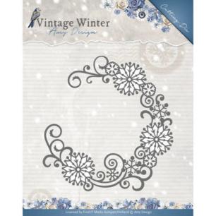 Amy Design Dies - Vintage Winter - Snowflake Swirl Round - Amy Design Dies - Vintage Winter - Snowflake Swirl Round