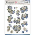 Amy Design 3D Utstansat- Vintage Winter - Winter Flowers