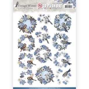 Amy Design 3D Utstansat - Vintage Winter - Wreaths - Amy Design 3D Utstansat - Vintage Winter - Wreaths
