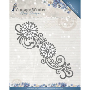 Amy Design Dies - Vintage Winter - Snowflake Swirl Border - Amy Design Dies - Vintage Winter - Snowflake Swirl Border