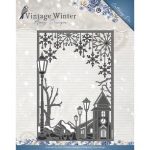 Amy Design Dies - Vintage Winter - Village Frame Straight - Amy Design Dies - Vintage Winter - Village Frame Straight