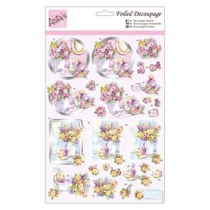 Anita´s 3D Utstansat - Blommor i vas - Anita´s 3D Utstansat - Blommor i vas