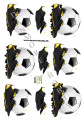 Dan design 3D Klippark - Fotbollsskor & Boll