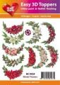 Easy 3D utstansat - Wintern Flowers