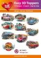 Easy 3D Utstansat - Vintage Cars