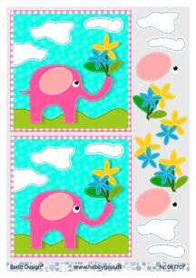 Barto Design - 3D Klippark - Liten elefant - Barto Design - 3D Klippark - Liten elefant
