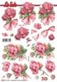 Le Suh 3D Utstansat - Rosor med rosett