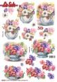 Le Suh 3D Utstansat - Blommor i vas
