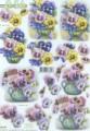 Le Suh 3D Utstansat - Penséer i vas