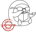 Gummiapan Stämpel - Ronny