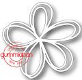 Gummiapan Dies - Doodlad Blomma