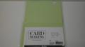 Kort & kuvert - kortstrl. 10,5 x 15 cm, kuvertstrl. 11,5x16,5 cm Grön pastellfärg, 10 set