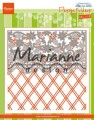 Marianne Design Embossingfolder & die - Anja´s Flower Border