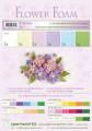 Flower foam 6 ark set 1 pastel colours