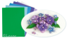 Flower foam 6 ark set 2 Blue/Violet