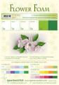 Flower foam 6 ark set 6 White/Green