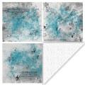 Felicita design - mönstrat papper i blått - Dubbelsidigt, 200 gr, 30,5x30,5 cm