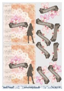 Barto Design - 3D Klippark - Konfirmation, flicka - Barto Design - 3D Klippark - Konfirmation, flicka