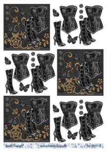 Barto Design - 3D Klippark - Korsett & Stövlar