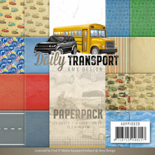 Amy Design Pappersblock - Daily Transport - Amy Design Pappersblock - Daily Transport