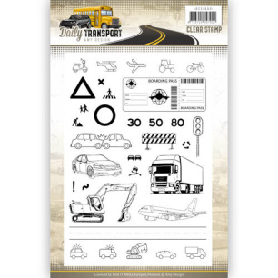 Amy Design - Clearstamp - Daily Transport - Amy Design - Clearstamp - Daily Transport