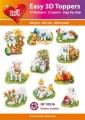 Easy 3D Utstansat - Easter Lambs