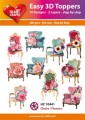 Easy 3D Utstansat - Chairs/Flowers
