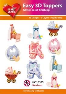 Easy 3D Utstansat - Newborn - Easy 3D Utstansat - Newborn