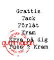 Gummiapan  - Stämpel - Litet textset