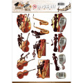 Amy Design 3D Utstansat - Sounds of Music - Jazz