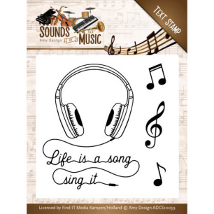 Amy Design - Clearstamp - Sounds of Music - Amy Design - Clearstamp - Sounds of Music