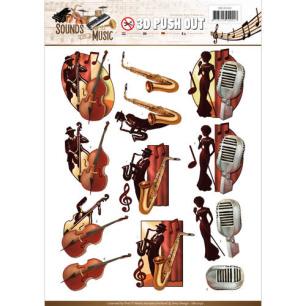 Amy Design 3D Utstansat - Sounds of Music - Jazz - Amy Design 3D Utstansat - Sounds of Music - Jazz