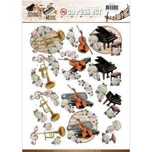 Amy Design 3D Utstansat - Sounds of Music - Classic - Amy Design 3D Utstansat - Sounds of Music - Classic