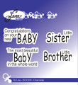by Lene - Clearstamp - Baby, englesk text